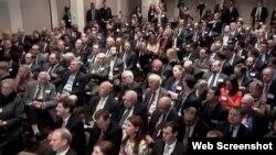 纽约外交关系协会举行美国国防部长卡特演讲会(网络截图)