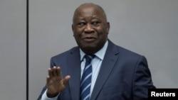 L'ancien président de la Côte d'Ivoire, Laurent Gbagbo, comparaît devant la Cour Pénale Internationale à La Haye, aux Pays-Bas, le 15 janvier 2019.