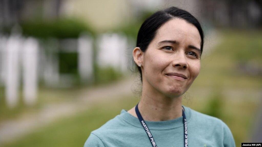 Hartford Public Schools Superintendent Dr. Leslie Torres-Rodriguez poses for a photo in Hartford, Conn June 5, 2020. (AP Photo/Jessica Hill, File)