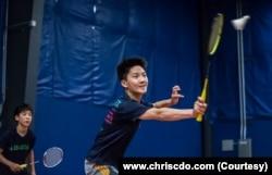 """David mengaku lepaskan """"stres kehidupan akademik"""" dengan berlatih badminton."""
