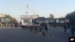 چهارراهی شهر کندز که اکنون در کنترول نیرو های دولت افغانستان قرار دارد.