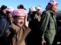 FILE - Massoud Barzani.