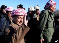 FILE - Massoud Barzani.