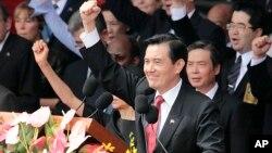 台灣總統馬英九在雙十國慶大會上