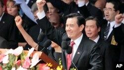 台湾总统马英九在双十国庆大会上(2014年10月10日)