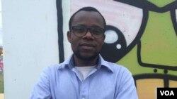 Paullo Macongo co-fundador da Associação de Estudantes Angolanos em São Paulo, Brasil. Dez., 2016
