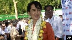 Bà Aung San Suu Kyi, lãnh tụ đấu tranh cho dân chủ của Miến Điện