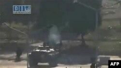 Snimak tenkova na ulicama sirijskog grada Hame