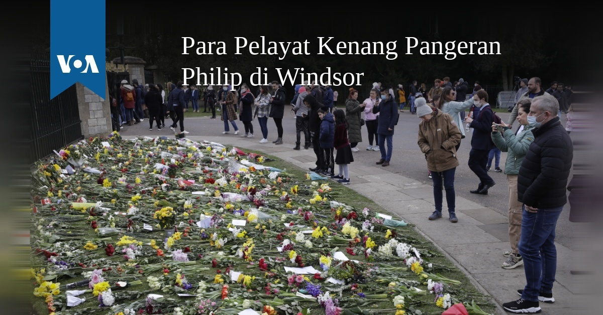 Para Pelayat Kenang Pangeran Philip di Windsor