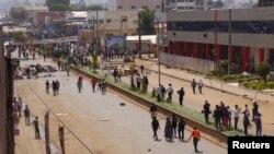 Des manifestants de Bamenda, Cameroon, Dec. 8, 2016.