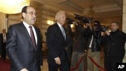 美國副總統拜登和伊拉克總理馬利基