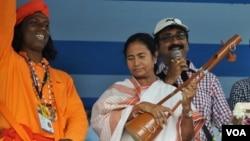 Mamata Banerjee in Singur.