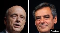 Alain Juppe (g) et Francois Fillon
