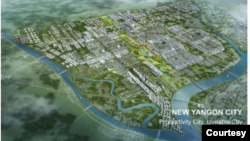 The New Yangon City project infograph / NYDC (New Yangon Development Company Limited)