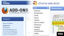 La mejor manera de encontrar nuevas extensiones es visitar la página web oficial de su navegador por motivos de seguridad.