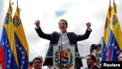 El líder de la opositora Asamblea Nacional de Venezuela, Juan Guaidó, juró el miércoles 23 de enero de 2019 como presidente interino de Venezuela, en medio de la crisis política que vive el país.