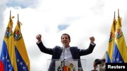 روزی که خوان گوایدو رئیس جمهوری موقت ونزوئلا در میان مردم سوگند یاد کرد