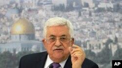 巴勒斯坦民族权力机构主席阿巴斯。(资料照)