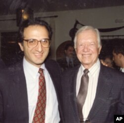 James Zogby and President Jimmy Carter