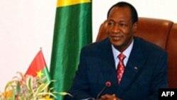 Le président du Burkina Faso, Blaise Compaoré, médiateur de la Cédéao. (Archives)