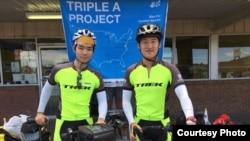 한국의 젊은이들이 자전거로 미 대륙을 횡단하며 일본 군 위안부 피해자들의 이야기를 알리고 있습니다.