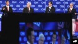 지난달 CNN에서 주최한 공화당 합동 토론회에 참석한 후보들