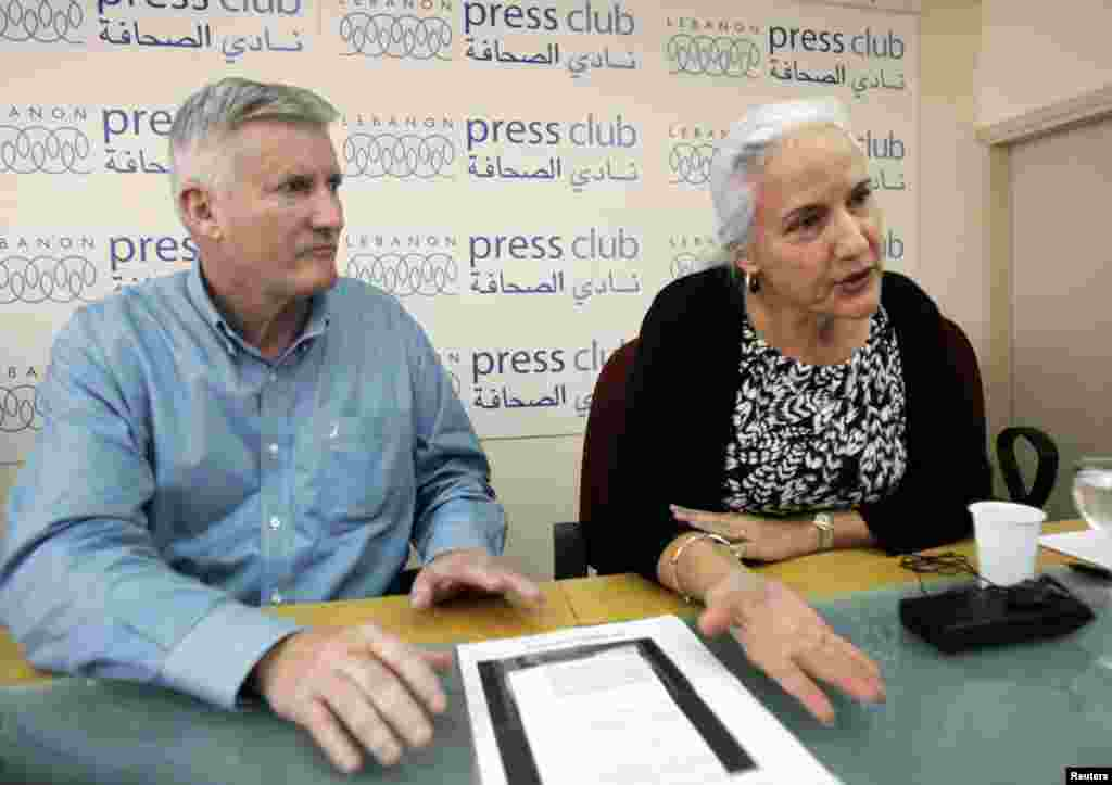 Пресс-конференция родителей американского журналиста Остина Тайса, похищенного в Сирии