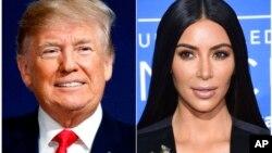 Дональд Трамп и Ким Кардашьян Уэст