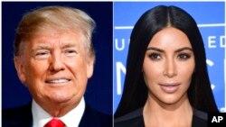Donald Trump et Kim Kardashian.