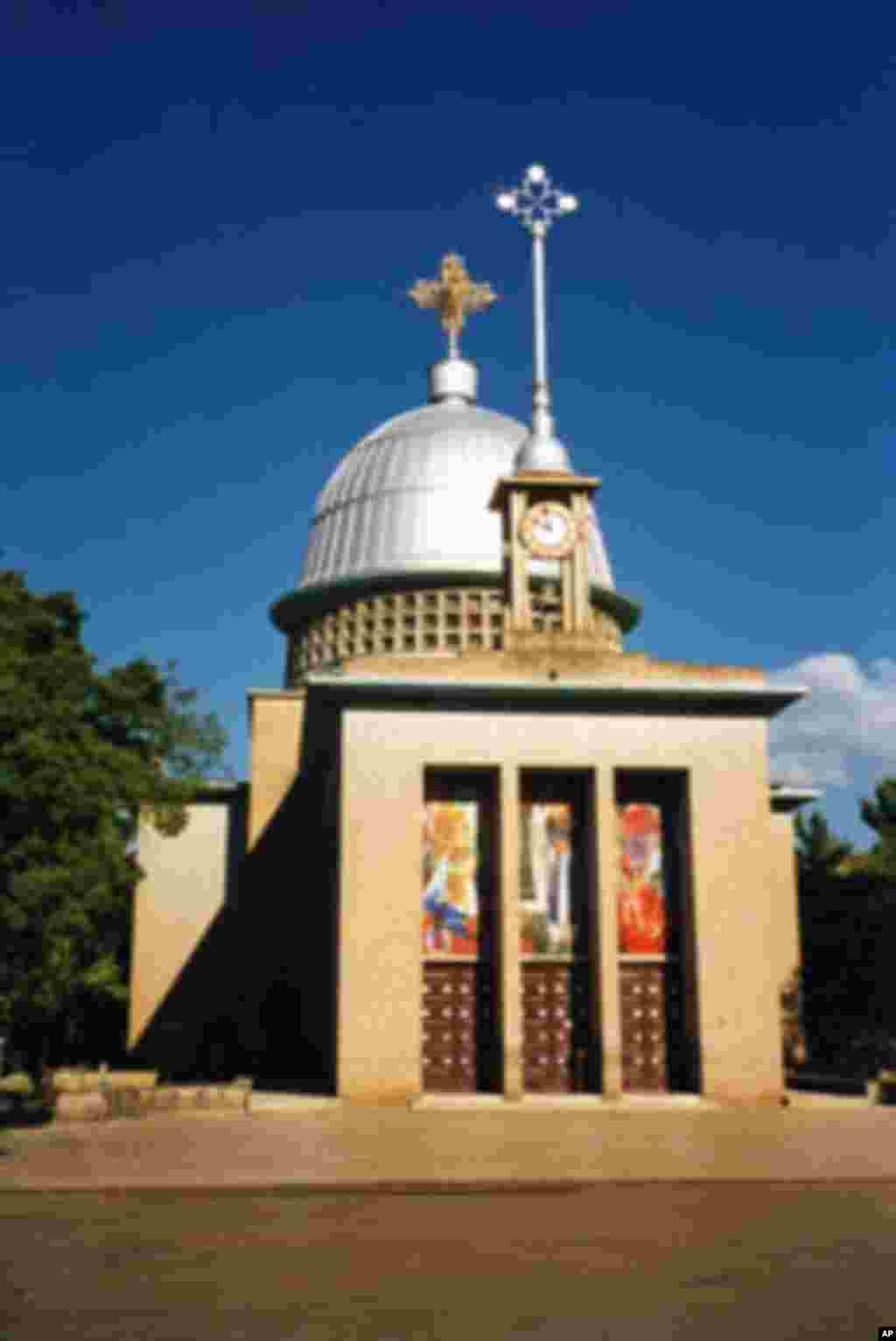 Churches and shrines, such as this one in Ethiopia, may be the first places to see a child with polio. Shrine keepers are trained in how to report the case to health authorities.