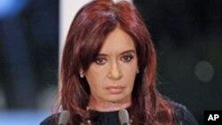 FILE - Argentina's President Cristina Fernandez de Kirchner.