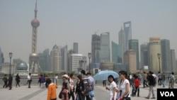 上海外滩(美国之音张楠拍摄)