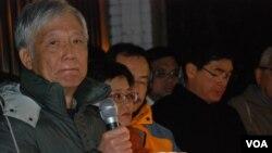 佔中發起人之一朱耀明表示,李慧玲被商台「滅聲」可能有政治因素影響 (美國之音湯惠芸)