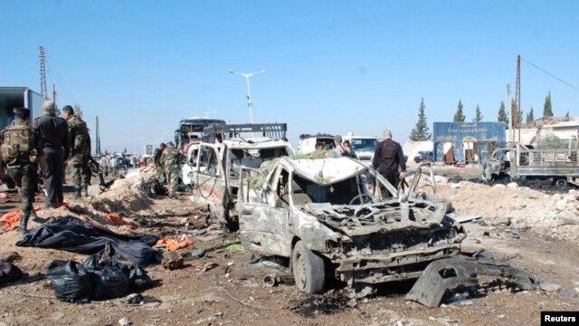 လူ ၃၀ ေက်ာ္ ေသဆံုးခဲ့တဲ့ ဆီးရီးယားက ၁.၅ တန္အေလးခ်ိန္ရွိ အေသခံ ထရပ္ကားဗံုးခဲြတုိက္ခိုက္မႈ ျမင္ကြင္း။ (ေအာက္တုိဘာ ၂၀၊ ၂၀၁၃)