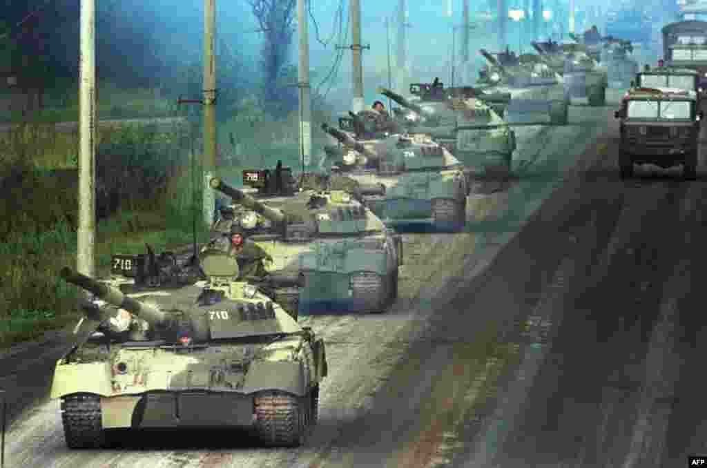 Танки в Москве, 19 августа 1991г.