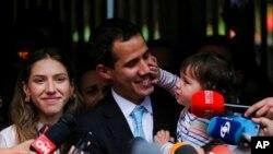Le président autoproclamé du Venezuela Juan Guaido