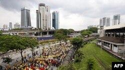 به رغم ممانعت پليس معترضان در مالزی برای انتخابات آزاد دست به تظاهرات زدند