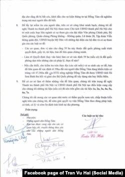 Năm luật sư đại diện cho dân xã Đồng Tâm kiến nghị chính quyền làm rõ việc giao đất nông nghiệp cho quân đội