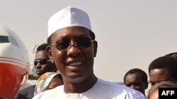 Le président tchadien Idriss Deby, à son arrivée à N'Djamena, Tchad, 26 décembre 2017.