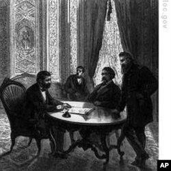格兰特总统签署限制三K党活动的法案