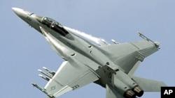 美國F-18戰鬥機(資料圖片)