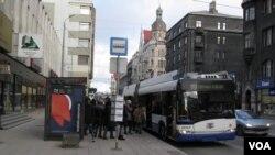普京宣传影响拉脱维亚俄语居民。拉脱维亚首都里加