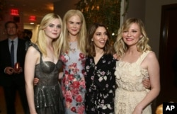 "Elle Fanning, Nicole Kidman, writer/director Sofia Coppola and Kirsten Dunst seen at the U.S. premiere of ""The Beguiled"" after-party at Sunset Tower, June 12, 2017, in Los Angeles."