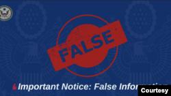 美國駐港澳總領事館發聲明指責中資媒體造謠(美領館推文截圖)