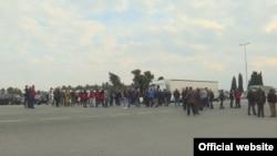 Protest radnika Kombinata aluminijuma (Foto: TVCG)