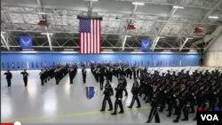 美國空軍為總統就職儀式做準備