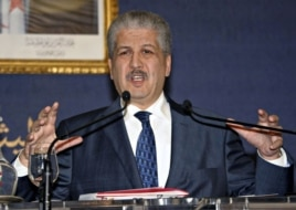 Algeria's Prime Minister Abdelmalek Sellal holds a news conference in Algiers, January 21, 2013.