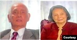 BS Nguyễn Tường Bách và cô giáo Hứa Bảo Liên trong cuộc phỏng vấn của Luật sư Lâm Lễ Trinh, ngày 24.09.2005. [nguồn: Little Saigon TV, hình ảnh Đinh Xuân Thái] (6)