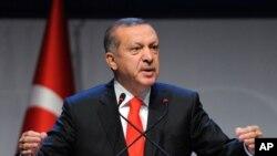 Turkey's Prime Minister Recep Tayyip Erdogan (2012 photo)