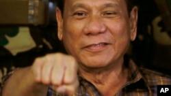 FILE - Philippine President Rodrigo Duterte.